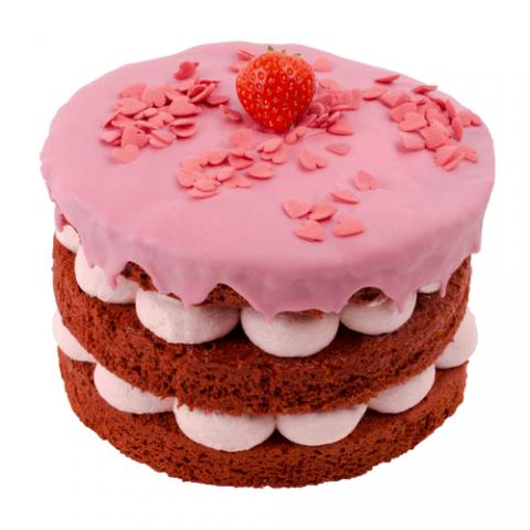 Small Strawberry Love Layer Cake Bezorgen