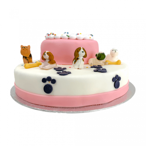 3D Little Dogs Taart Bezorgen
