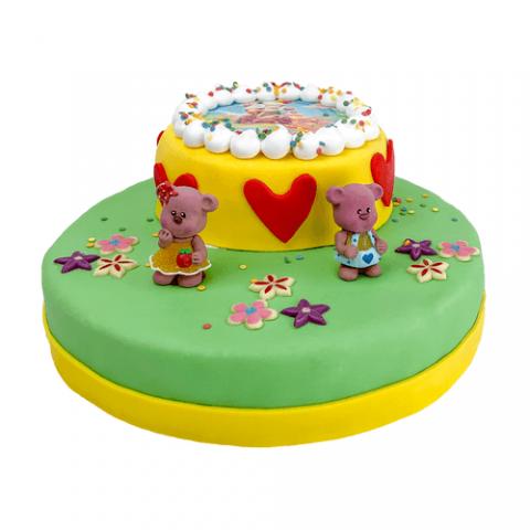 3D Lovely Bears Taart Bezorgen